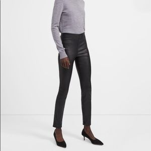 Theory Skinny Legging in Leather, Black